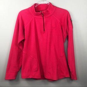 Under Armour Pink Fleece Half Zip Pullover